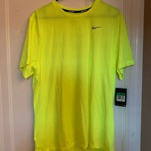 Nike neon yellow dri-fit t-shirt